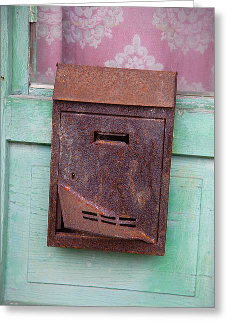 Angry Postbox Greeting Card