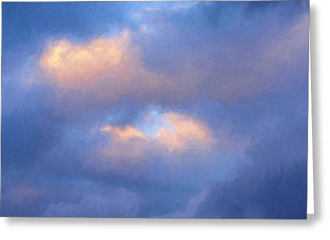 Angry Sky Over The Adirondacks Greeting Card by George Robinson