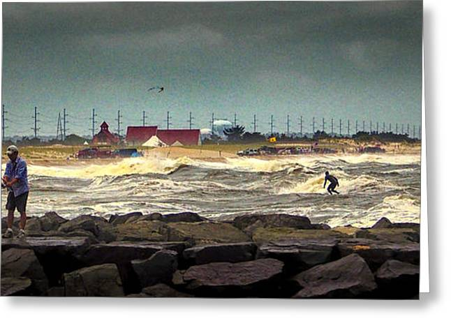 Angry Surf At Indian River Inlet Greeting Card
