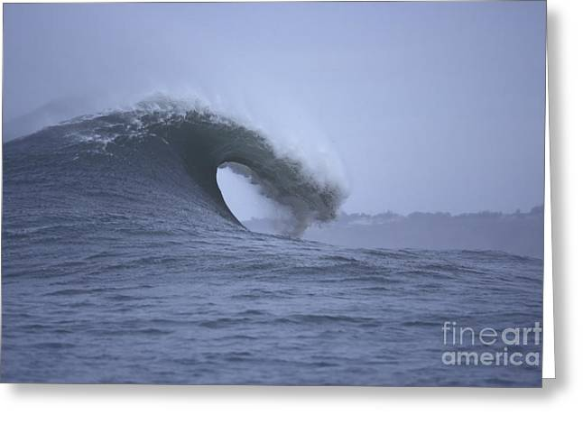 Angry Wave Angry Day Greeting Card by Stan and Anne Foster