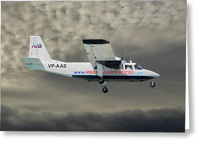 Anguilla Air Services Britten-norman Bn-2a-26 Islander 116 Greeting Card