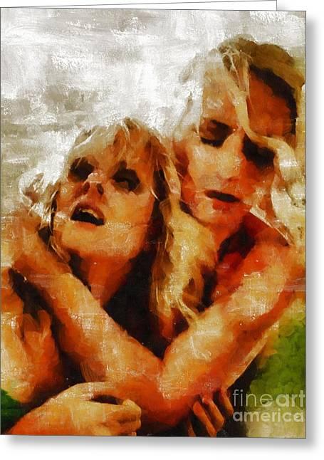 Anguish By Mary Bassett Greeting Card by Mary Bassett