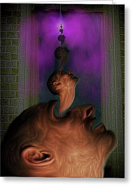 Anguish Greeting Card by Mimulux patricia no No