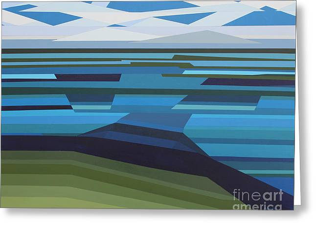 Angular Lake Greeting Card