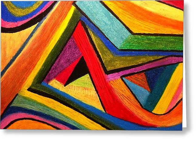 Greeting Card featuring the pastel Angular Pull by Polly Castor