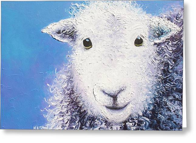 Angus  Greeting Card by Jan Matson