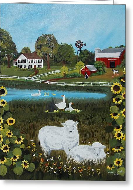 Animal Farm Greeting Card by Virginia Coyle