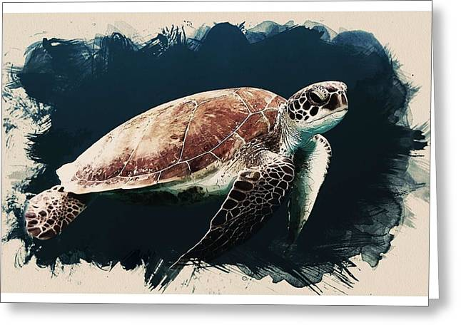 Animal Kingdom Series - Caretta Caretta Sea Turtle Greeting Card