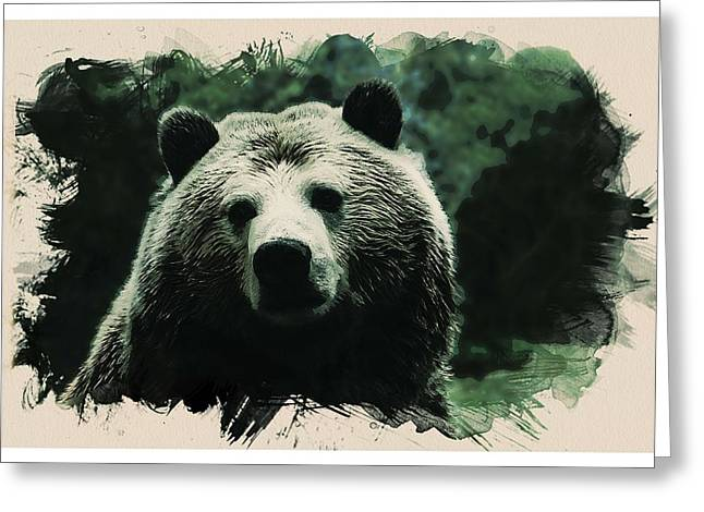 Animal Kingdom Series - Grizzly Bear Greeting Card