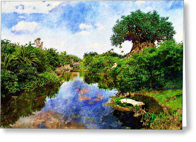 Animal Kingdom Tranquility Greeting Card
