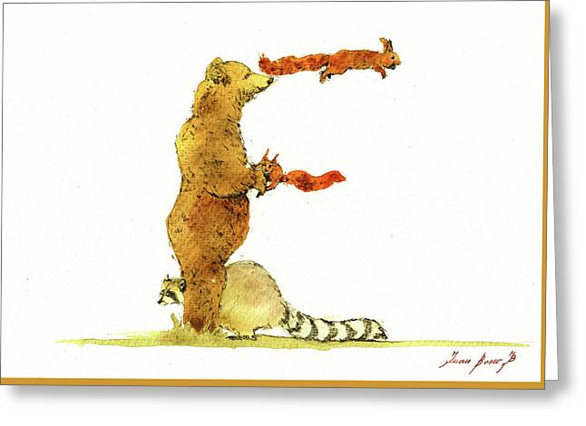 Animal Letter Greeting Card