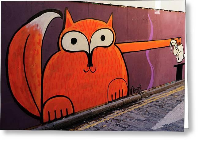 Animal Magic Graffiti Greeting Card by Liz Pinchen