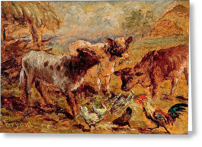 Animals Greeting Card by Henry Charles Bryant