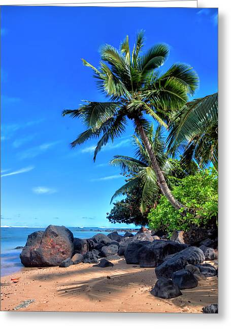 Anini Beach Greeting Card by Brad Granger