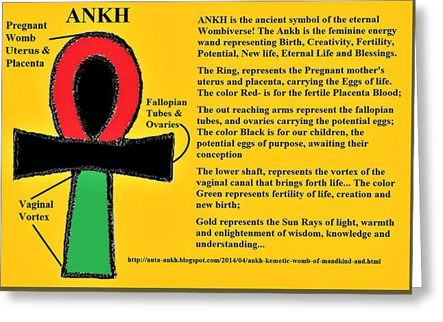 Ankh Meaning Greeting Card