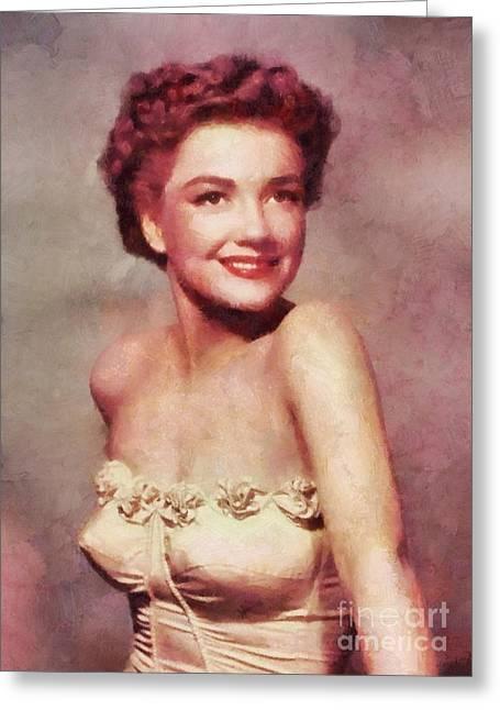 Ann Baxter, Vintage Actress Greeting Card by Sarah Kirk