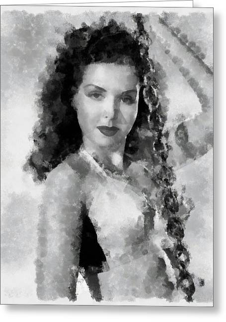 Ann Miller Actress Greeting Card by Esoterica Art Agency