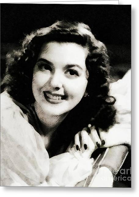 Ann Rutherford, Hollywood Legend Greeting Card