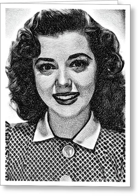 Ann Rutherford, Vintage Actress By Js Greeting Card