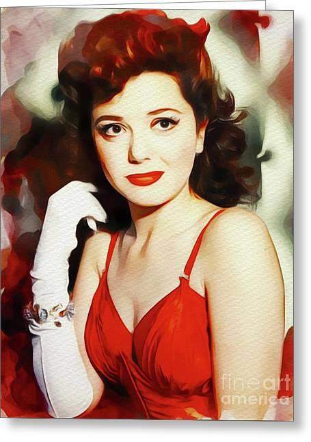 Ann Rutherford, Vintage Movie Star Greeting Card