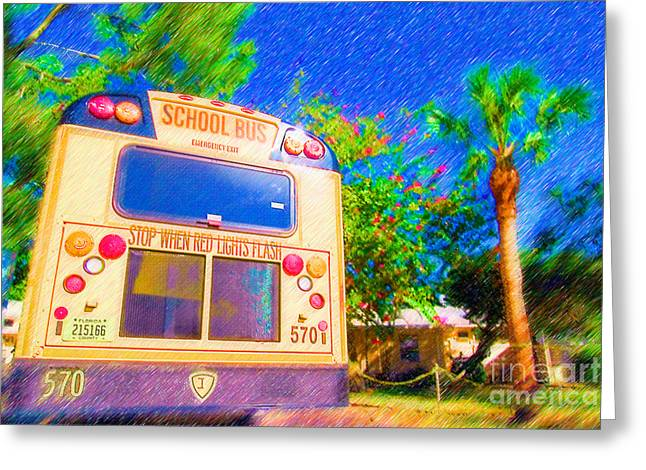 Anna Maria Elementary School Bus C131270 Greeting Card