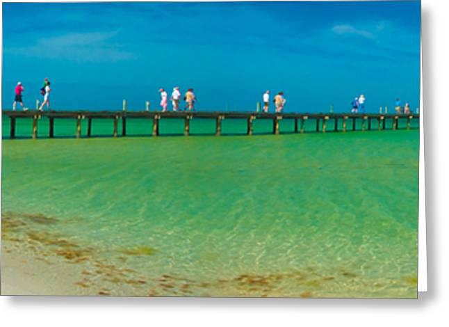 Anna Maria Island Historic City Pier Panorama Greeting Card