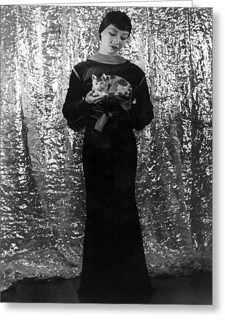 Van Vechten Greeting Cards - Anna May Wong (1907-1961) Greeting Card by Granger