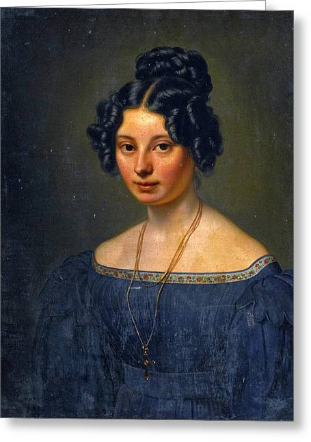 Anna Motherbig Greeting Card by Carl Christian Vogel von Vogelstein