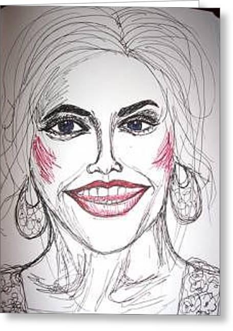 Anna Nicole Smith Greeting Card by Caroline Lifshey