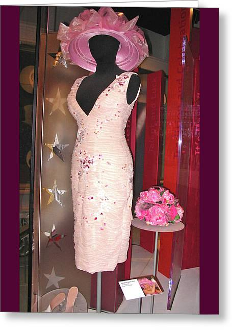 Anna Nicole Smith's Kentucky Derby 2004 Dress And Hat Greeting Card by Marian Bell
