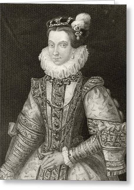 Anna Of Austria, 1549 To 1580. Queen Greeting Card by Vintage Design Pics