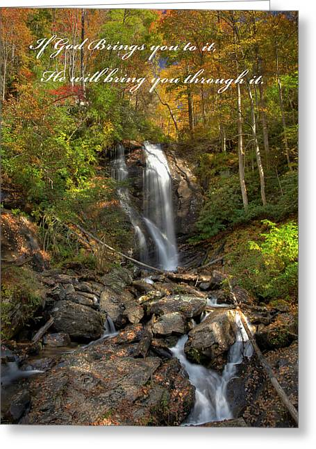 Greeting Card featuring the photograph Anna Rby Falls 3 by Penny Lisowski