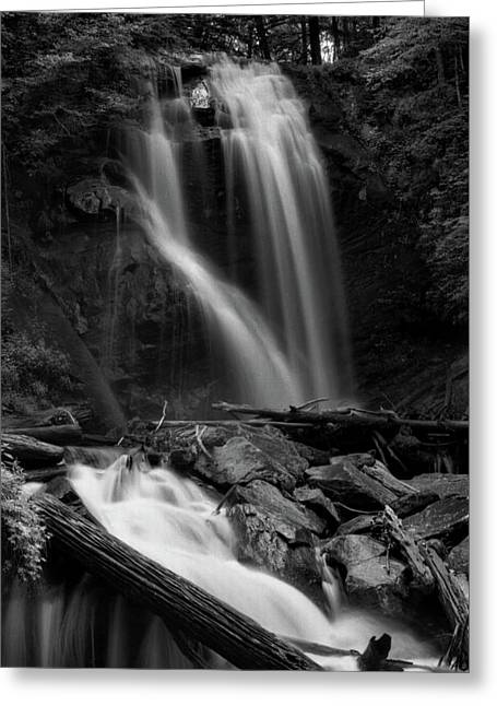 Anna Ruby Falls In Black And White Greeting Card