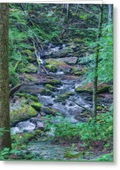 Anna Ruby Falls In Hdr Greeting Card