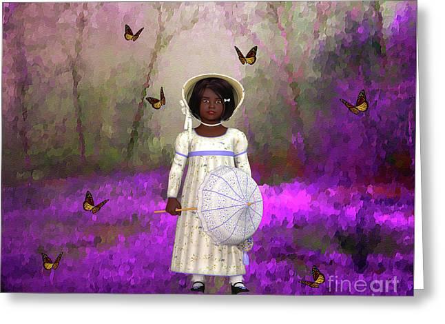 Little Lucille Greeting Card by KaFra Art