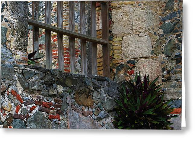 Greeting Card featuring the photograph Annaberg Ruin Brickwork At U.s. Virgin Islands National Park by Jetson Nguyen