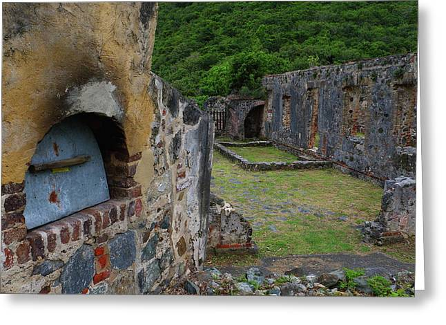 Greeting Card featuring the photograph Annaberg Sugar Mill Ruins At U.s. Virgin Islands National Park by Jetson Nguyen