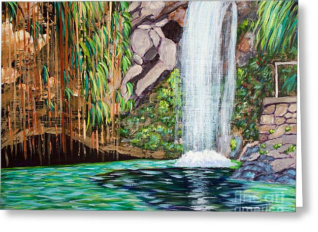 Annandale Waterfall Greeting Card