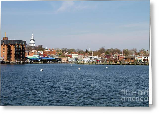 Annapolis City Skyline Greeting Card