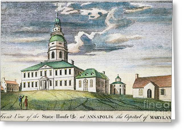 Annapolis, Maryland, 1786 Greeting Card by Granger