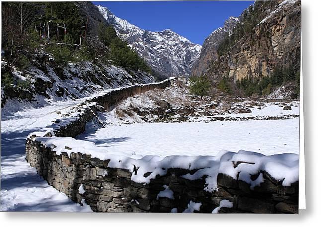 Annapurna Circuit Trail Greeting Card by Aidan Moran