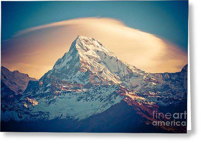 Annapurna Sunrise Himalayas Mountains Greeting Card