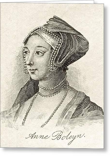 Anne Boleyn Also Spelled Bullen Greeting Card