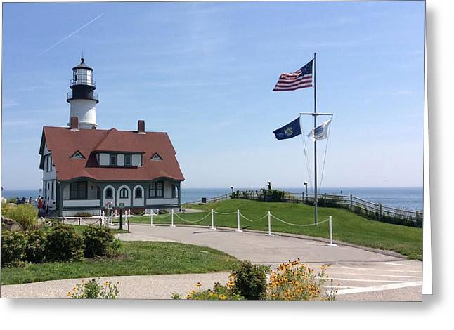 Portland Lighthouse ----- Edit Greeting Card