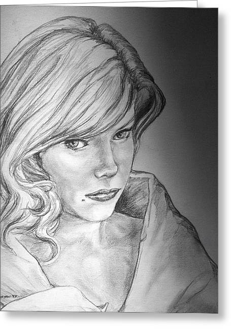 Anne Francis Greeting Cards - Anne Francis Greeting Card by Bryan Bustard