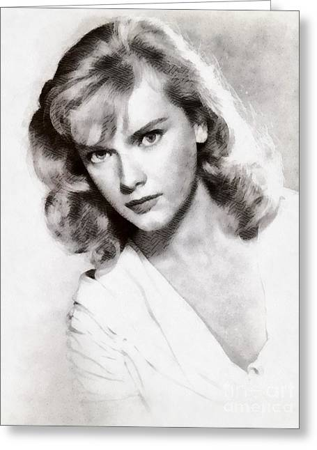 Anne Francis, Vintage Actress Greeting Card by John Springfield