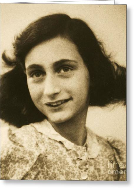 Hiding Greeting Cards - Anne Frank Greeting Card by Reproduction