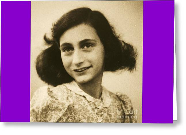 Anne Frank Greeting Card by Roberto Prusso