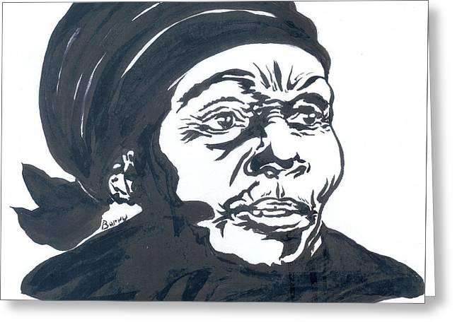 Anne Marie Nzie 01 Greeting Card by Emmanuel Baliyanga