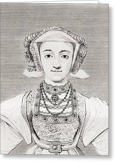 Anne Of Cleves, 1515 - 1557. German Greeting Card by Vintage Design Pics
